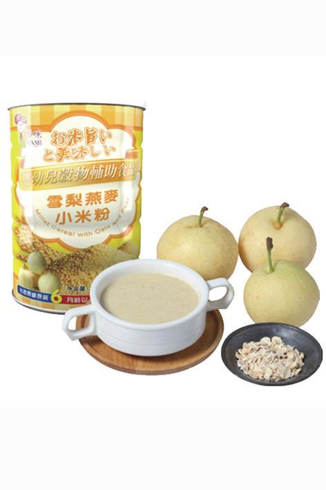 輔食系列-雪梨燕麥